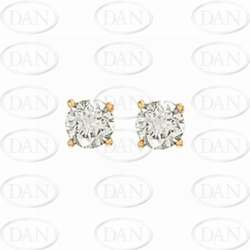 1.00Ct Hsi Diamond Studs 18ct Yellow