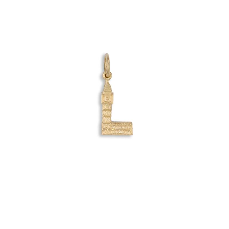 9ct Yellow Gold Big Ben Parliment Charm Pendant
