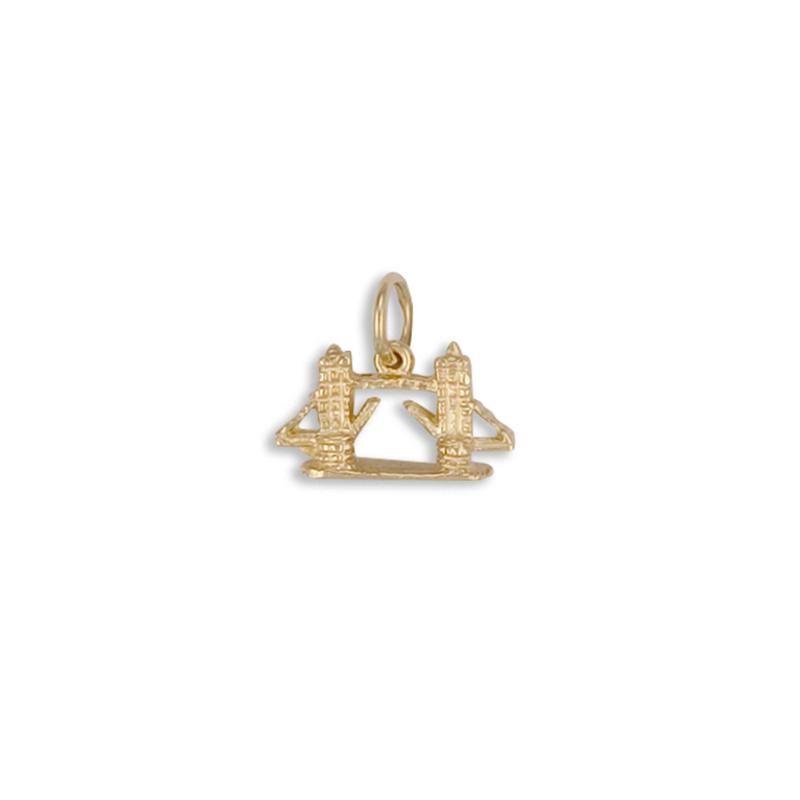9ct Yellow Gold Tower Bridge Charm Pendant