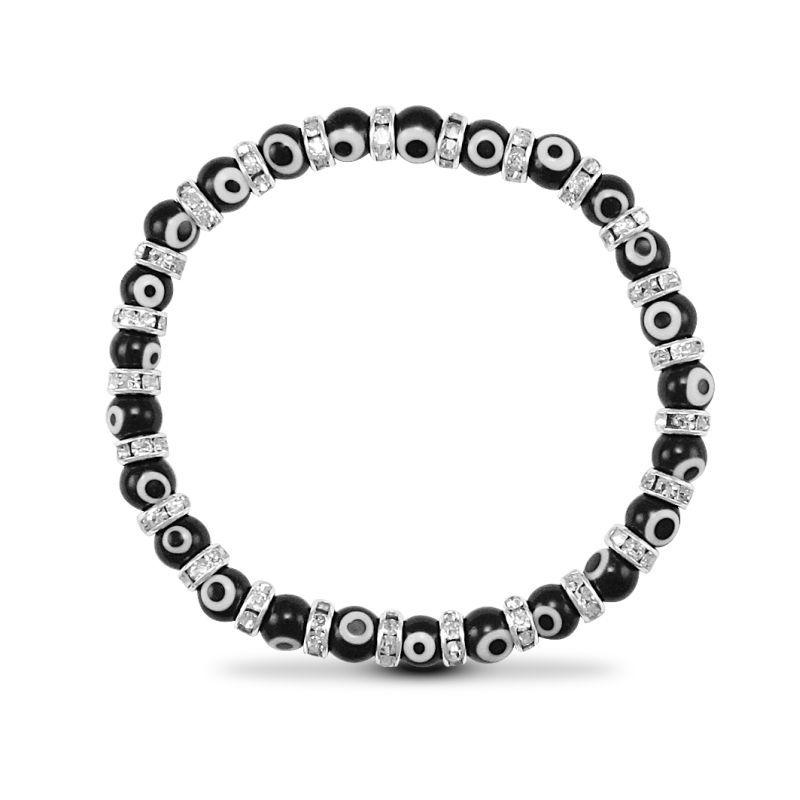 6mm Black Evil Eye Bracelet