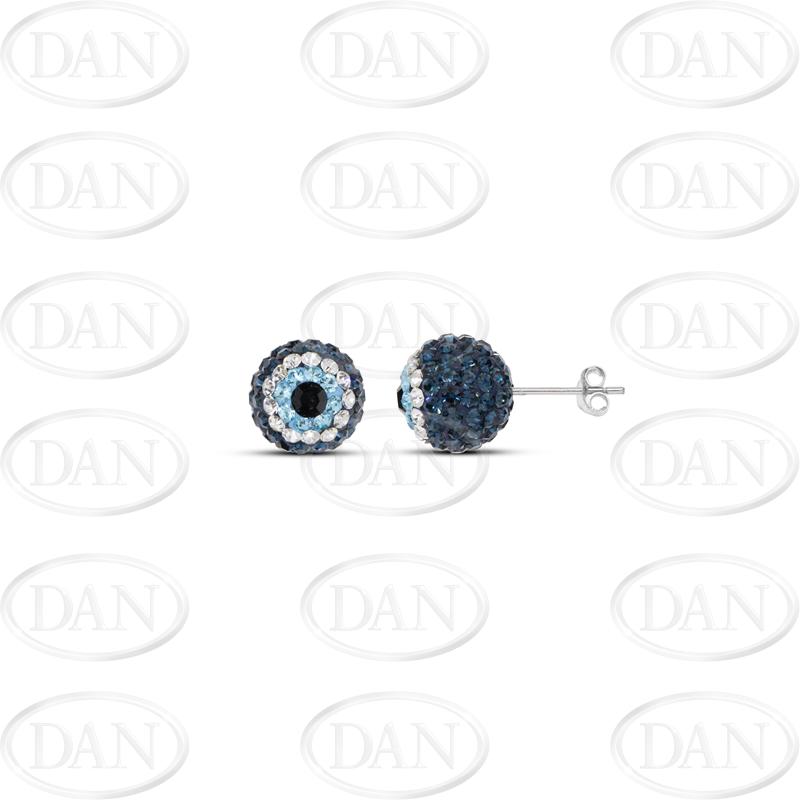 10mm Evil Eye Studs Earrings