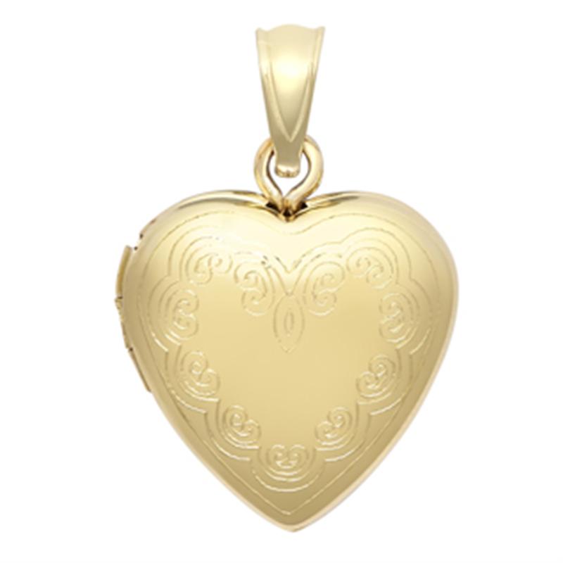 9ct Yellow Gold Heart Locket Pendant