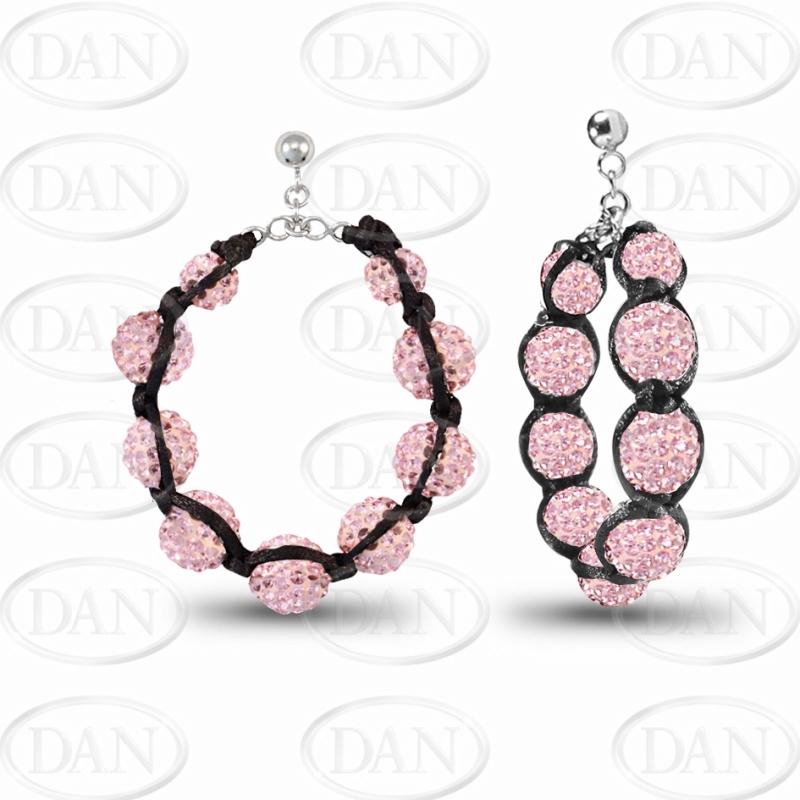 Kamara Pink 30mm Hoop Earrings