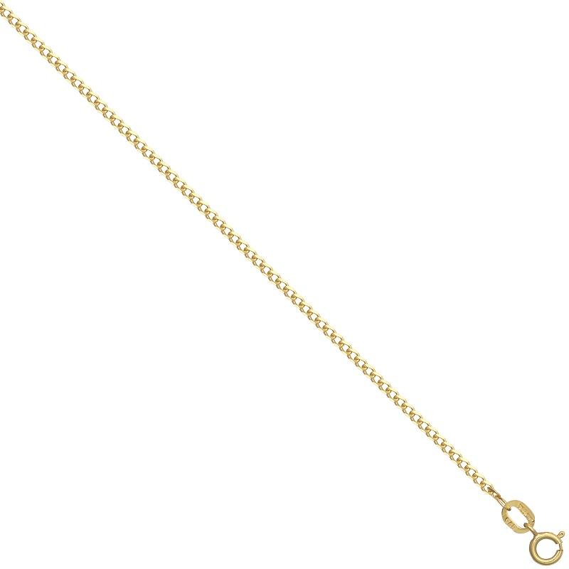 9ct YG Super Flat Curb Chain