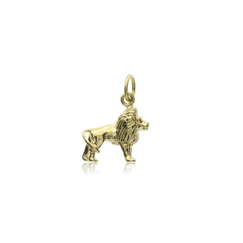 9ct Yellow Gold Gold Lion Pendant