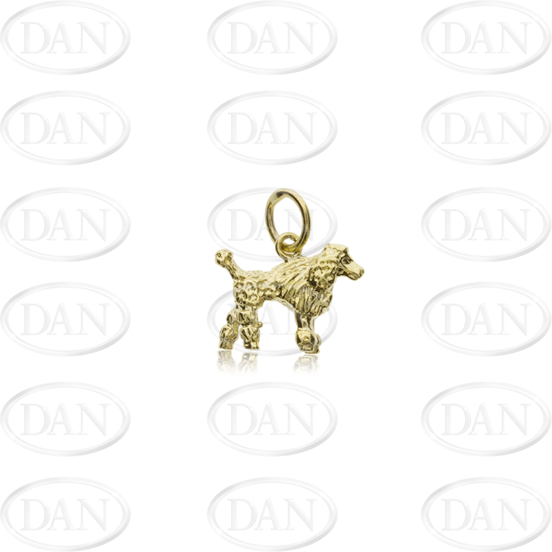 9ct Yellow Gold Poodle Pendant