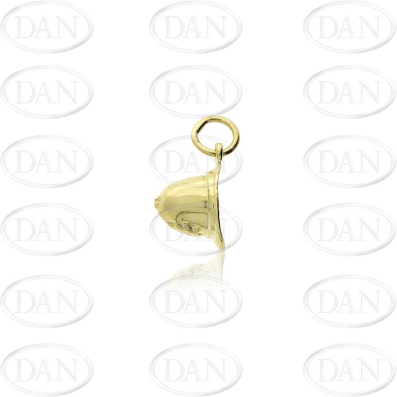 9ct Yellow Gold Policeman's Helmet Pendant