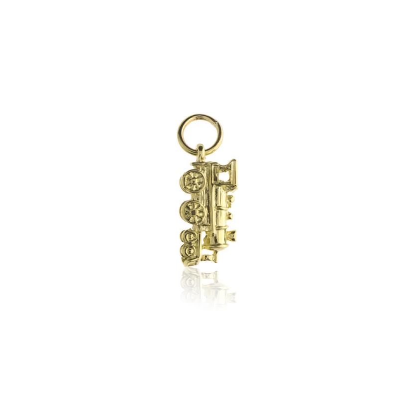 9ct Yellow Gold Steam Engine Pendant