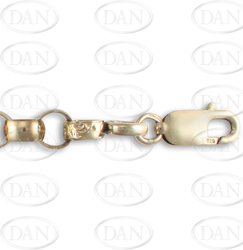 Engraved And Plain D - Shaped Belcher Chain