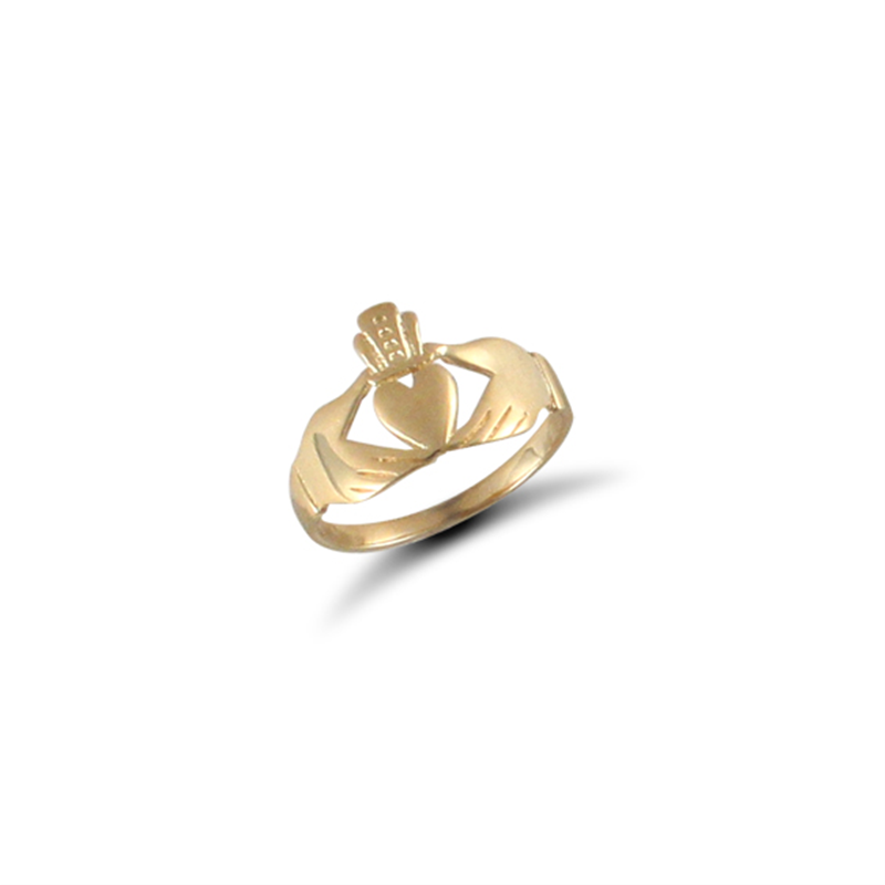 9ct Yellow Gold Kids Claddagh Ring A-J