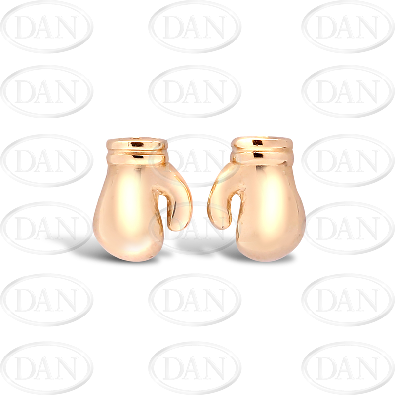 9ct Yellow Gold Boxing Glove Stud Earrings