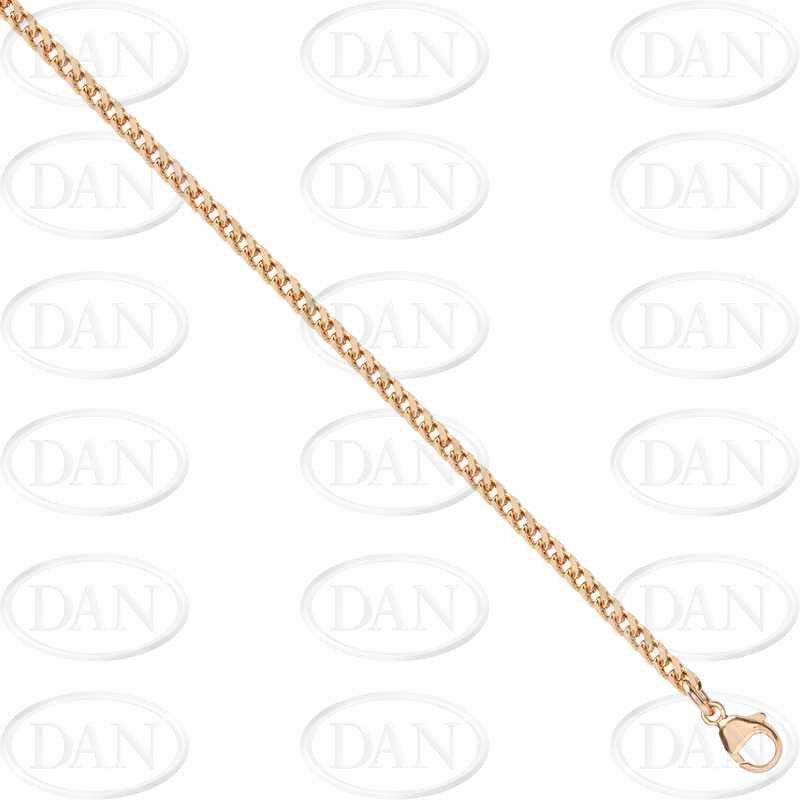 9ct Yellow Gold Round Franco Chain 30 Inch