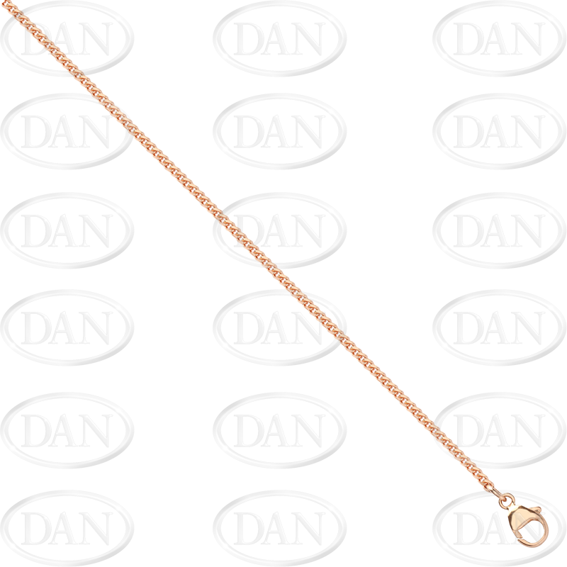 9ct Rose Gold Round Franco Chain 30 Inch