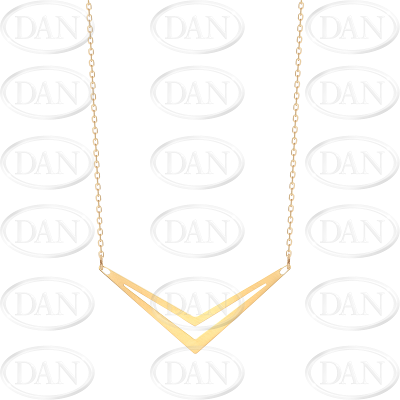 9ct Yellow Gold Fancy Arrow Pendant