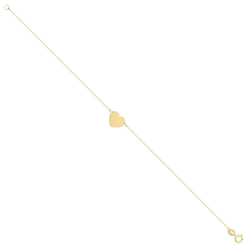 9ct Yellow Gold Fancy Heart Bracelet