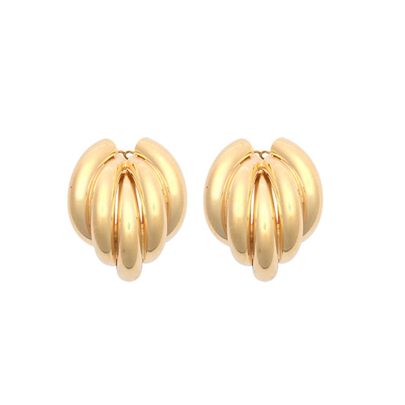 9ct Yellow Gold Plain Twist Stud Earrings