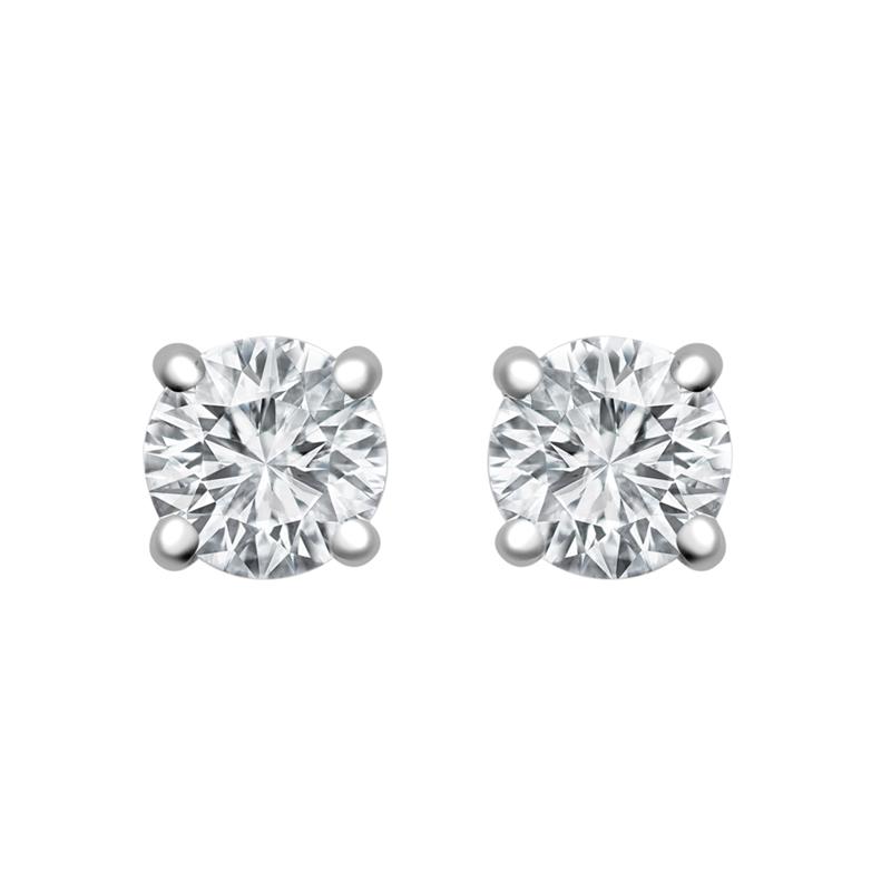 0.50ct 18ct White Gold Diamond Studs H SI