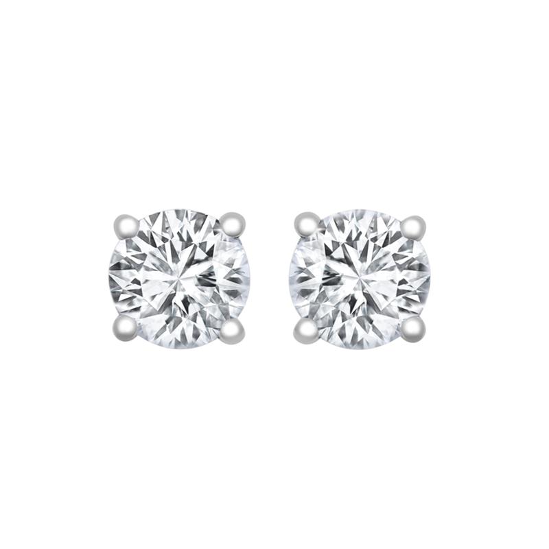 18ct WG 0.40ct Diamond Studs H SI