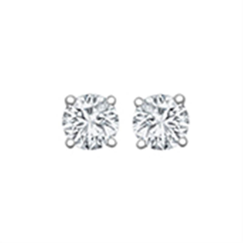 0.30ct 18ct White Gold Diamond Studs H SI