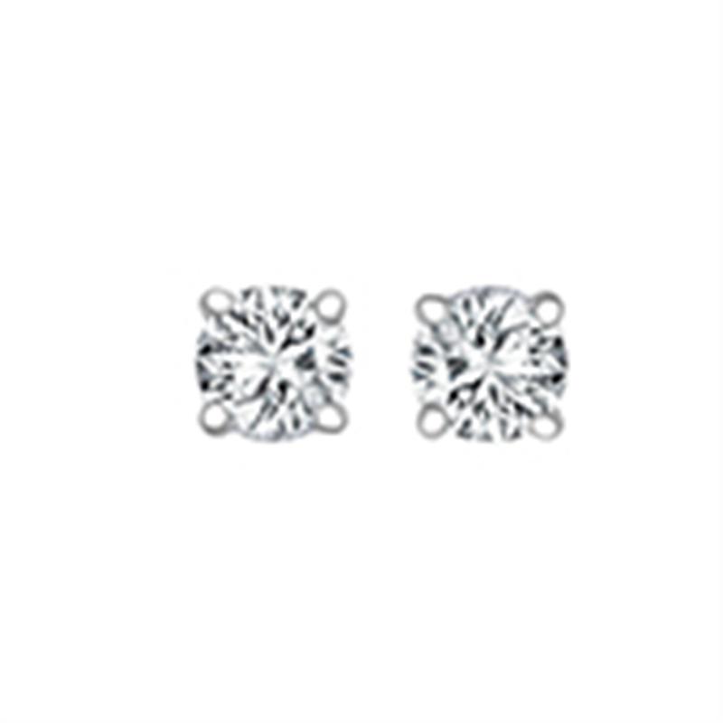 0.25ct 18ct White Gold Diamond Studs H SI