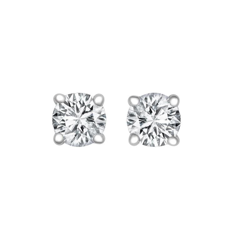 18ct WG 0.25ct Diamond Solitaire Studs H SI
