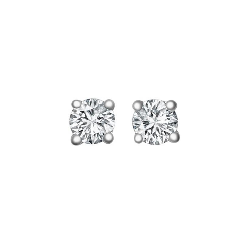 0.15ct 18ct White Gold Diamond Studs H SI