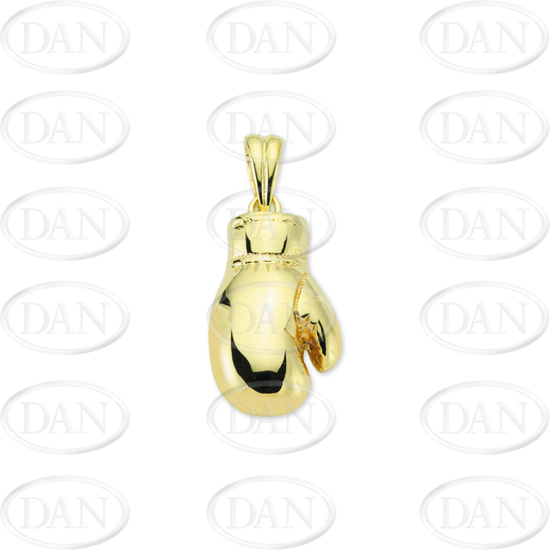 9ct Yellow Gold Right Hand Boxing Glove Pendant