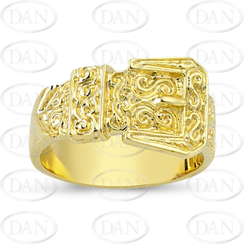 9ct Yellow Gold Plain Buckle Ring