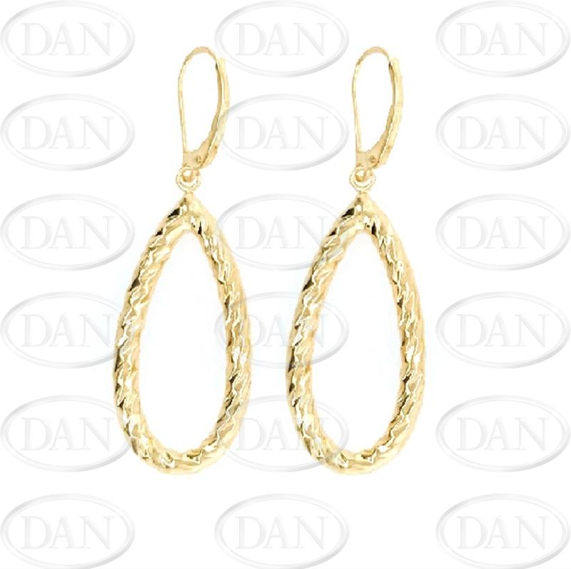9ct Gold Oval Drop Earrings