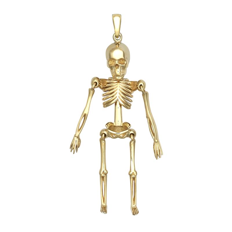 9ct YG Skeleton Movable Pendant