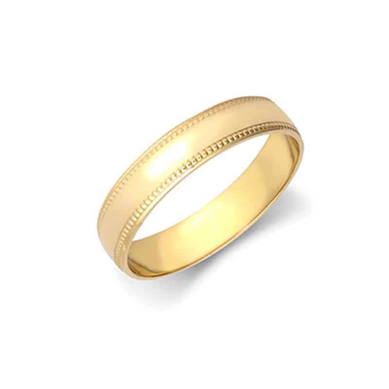 4mm Milgrain Wedding Ring