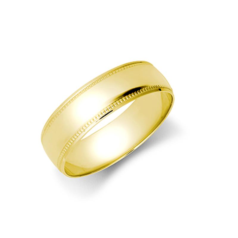 5mm Milgrain Wedding Ring