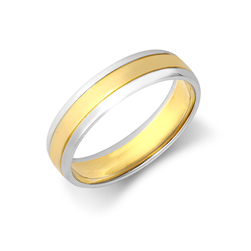 5mm Two-Colour Wedding Ring