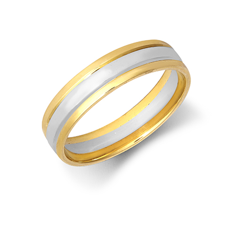 5mm Two-Colour Wedding Band Ring