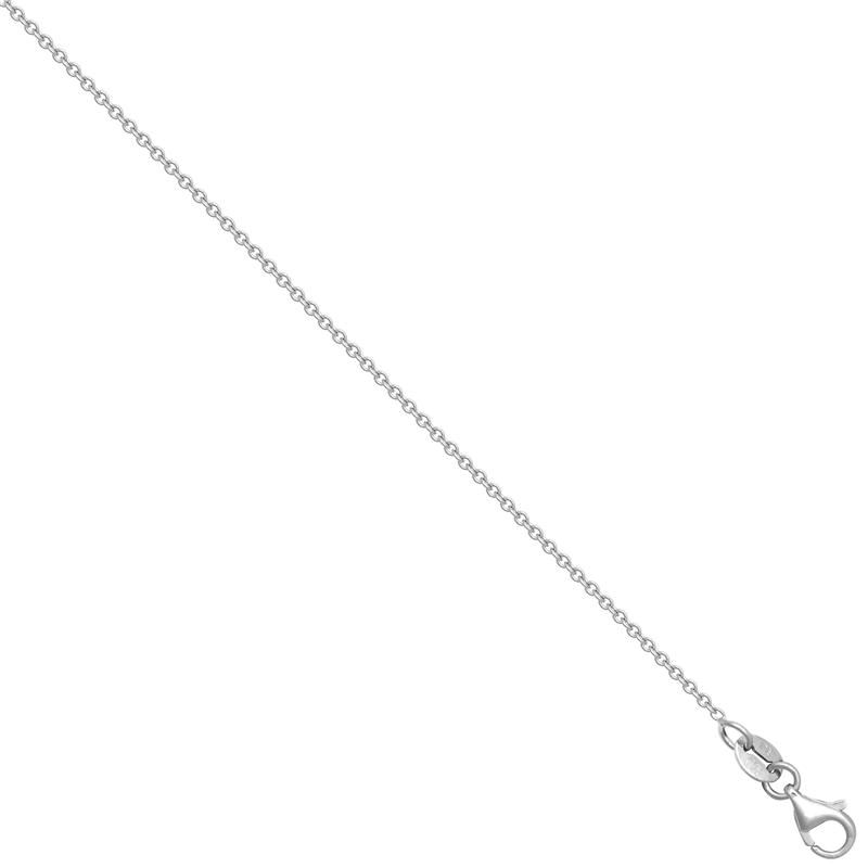 18ct WG Trace Chain
