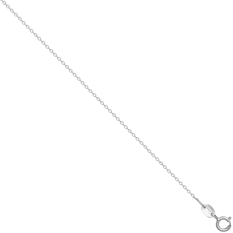 18ct WG 0.8mm Faceted Trace Chain