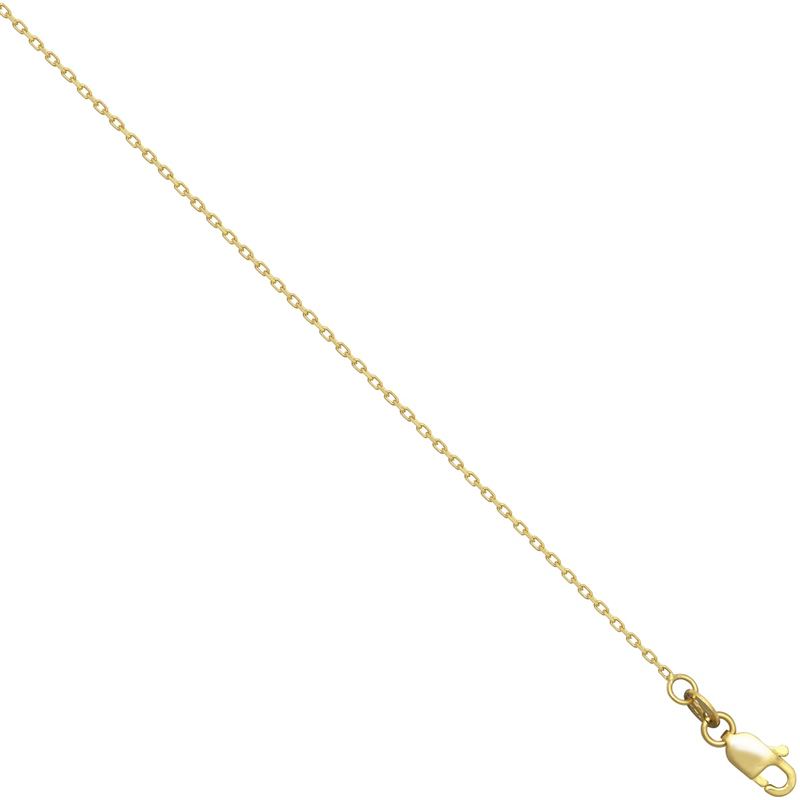 18ct YG 1mm Faceted Trace Chain