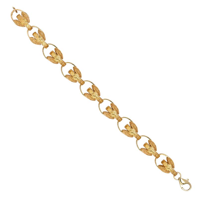 9ct YG 15mm Plain Tulip Chain