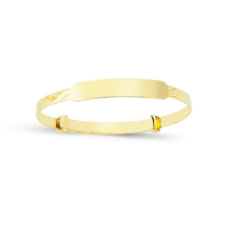 Kids Diamond Cut Expandable I.D. Bangle