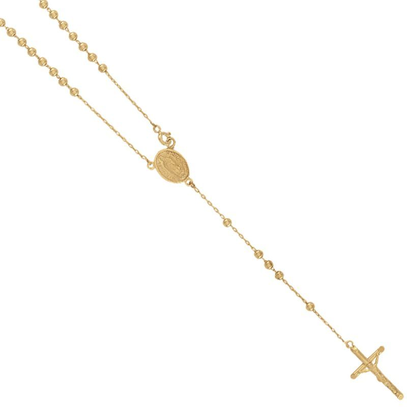 9ct Yellow Gold Kids Rosary Bead Chain with Madonna