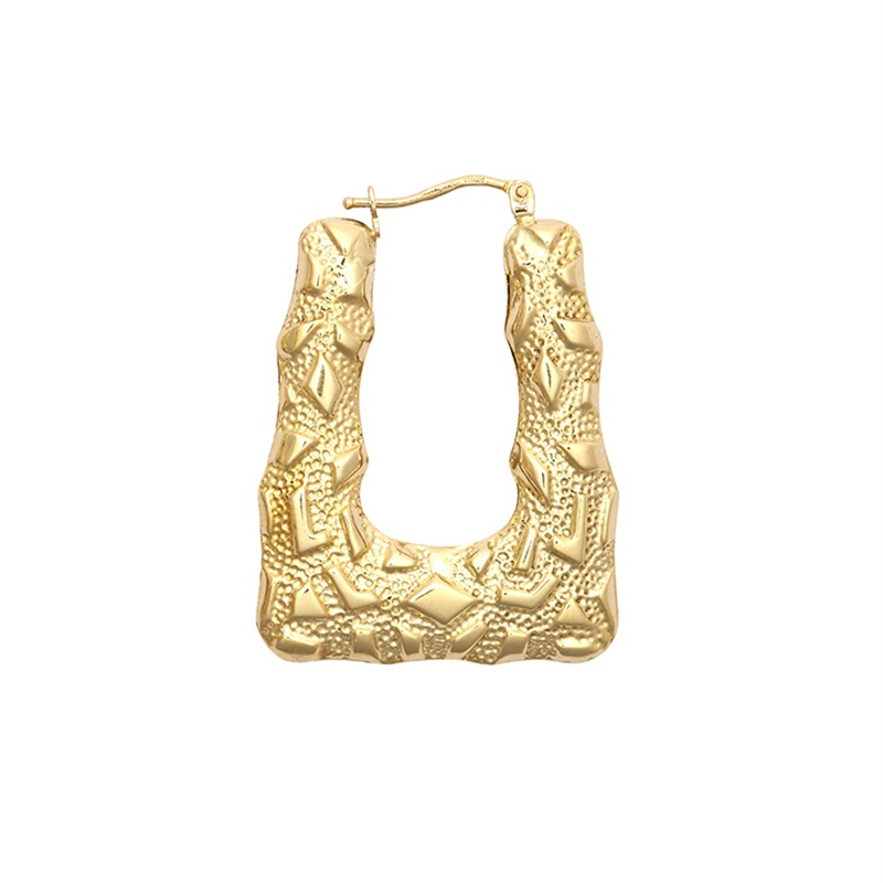 9ct Yellow Gold Handbag Creole Earrings