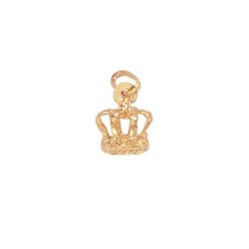 9ct Yellow Gold Crown Pendant