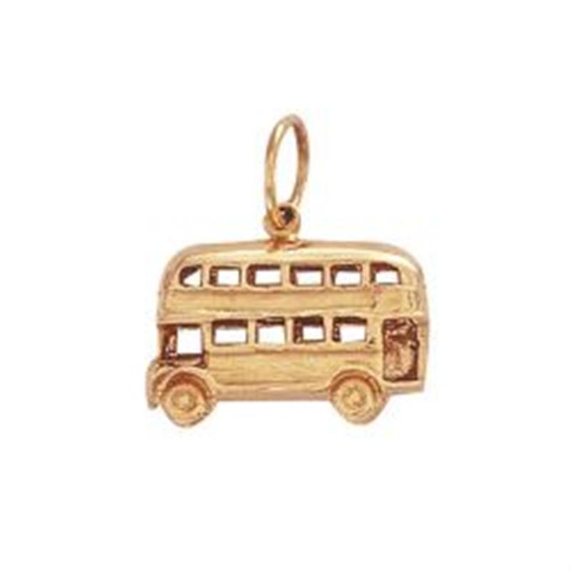 9ct Yellow Gold Double Decker Bus Pendant