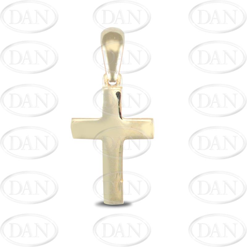 9ct Yellow Gold Plain Polished Cross Pendant