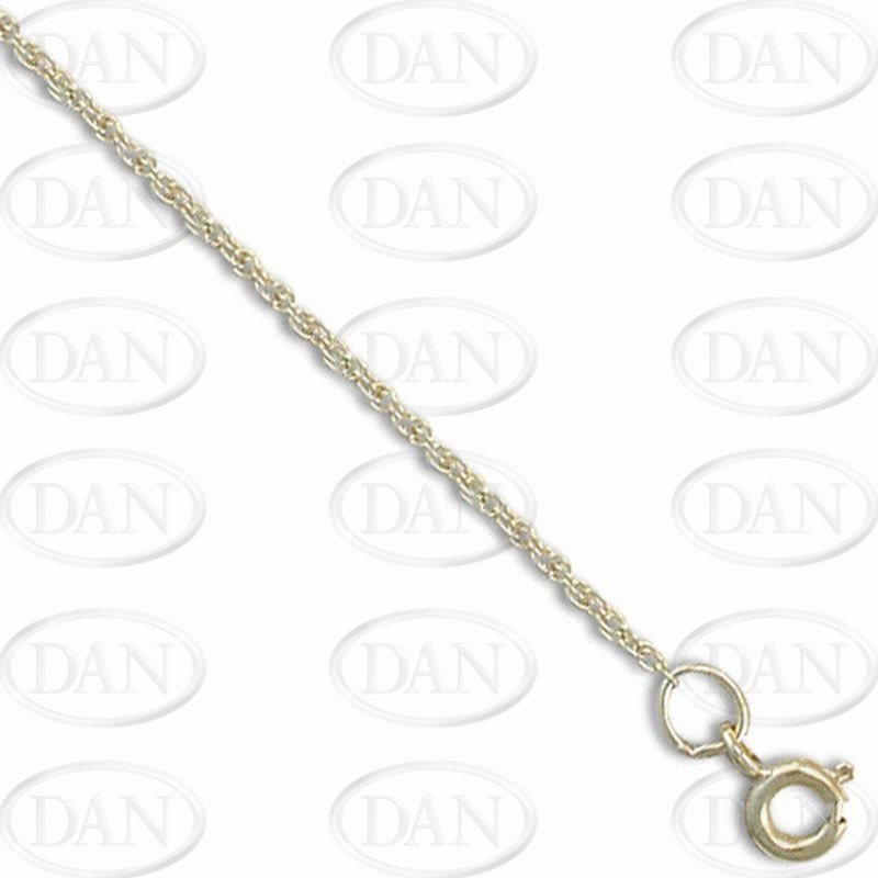 9ct Yellow Prince Of Wales Baby Chain 14