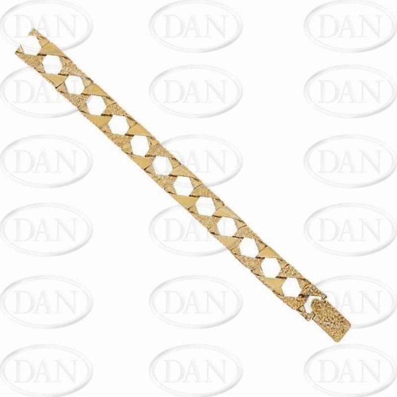 Gents Cobra & Plain Bracelet