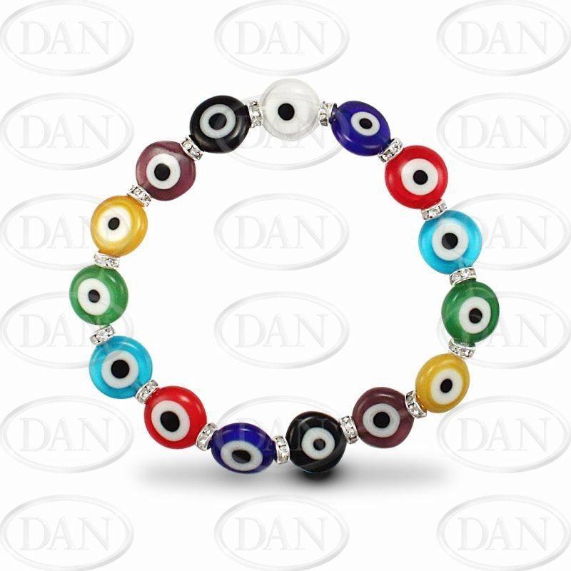 Disc Shape MultiColour Evil Eye Brac