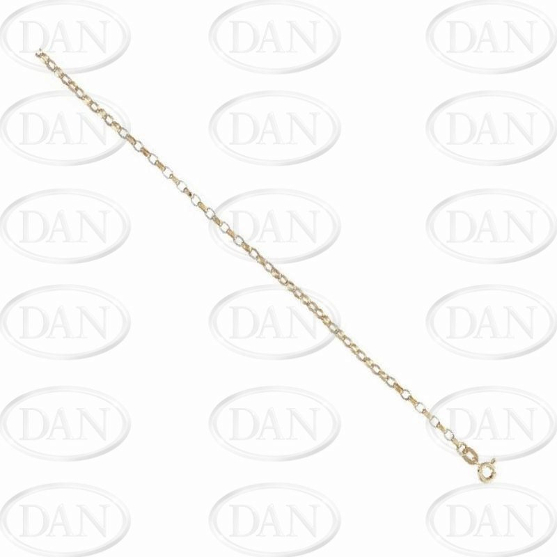 9ct Yellow Gold Diamond Cut Belcher Chain