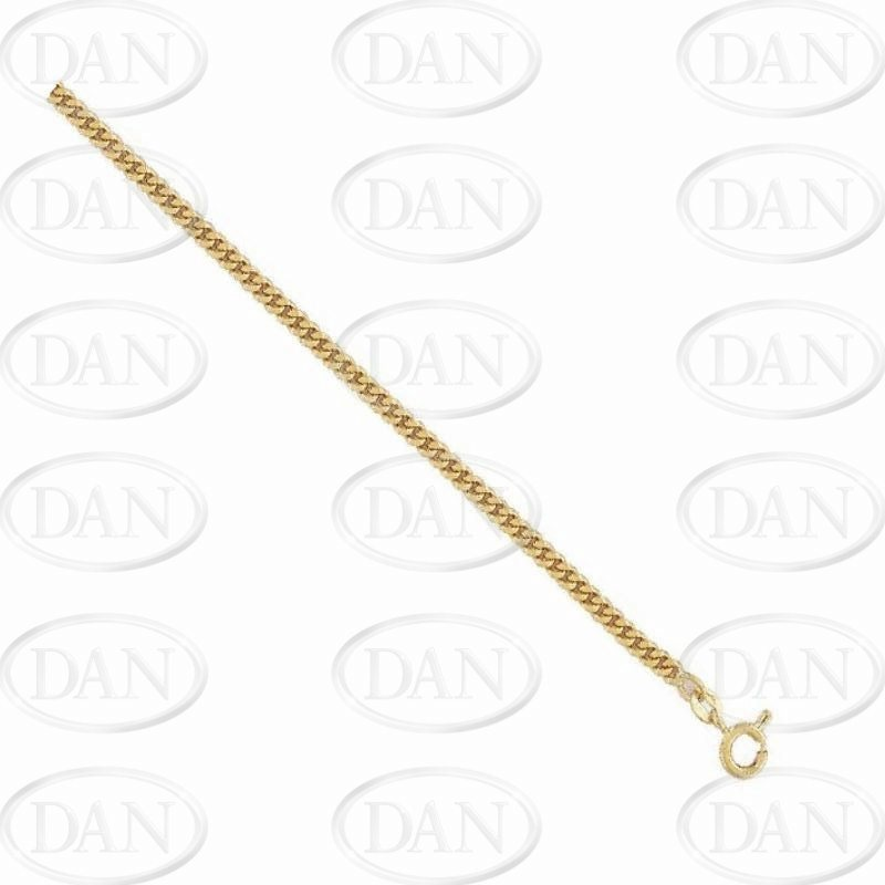 9ct YG Traditional Classic Curb Chain
