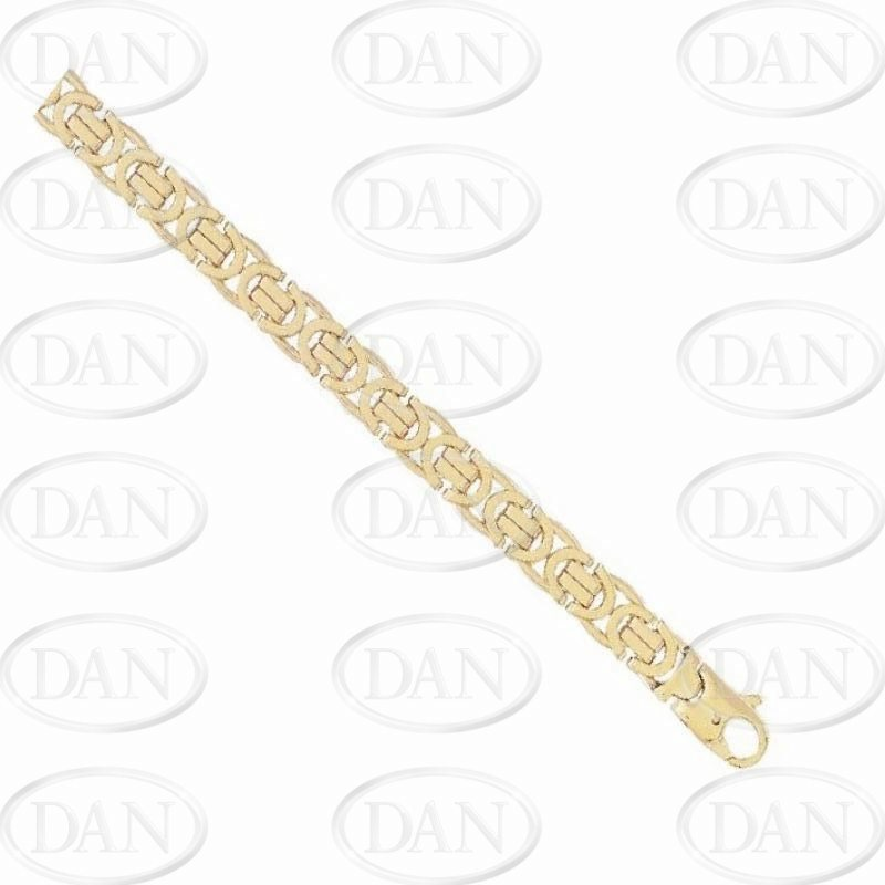 9ct Yellow Gold Gents Flat Byzantine Chain